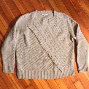 Madewell wool cable knit sweater Sz Med